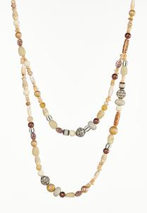 Two-Row Beaded Necklace