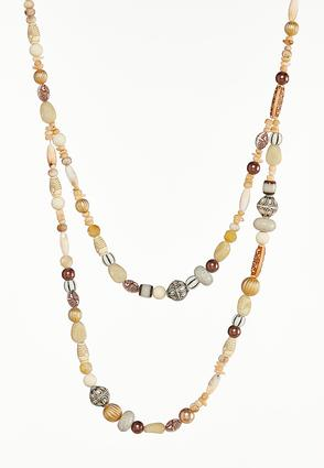 Two- Row Beaded Necklace