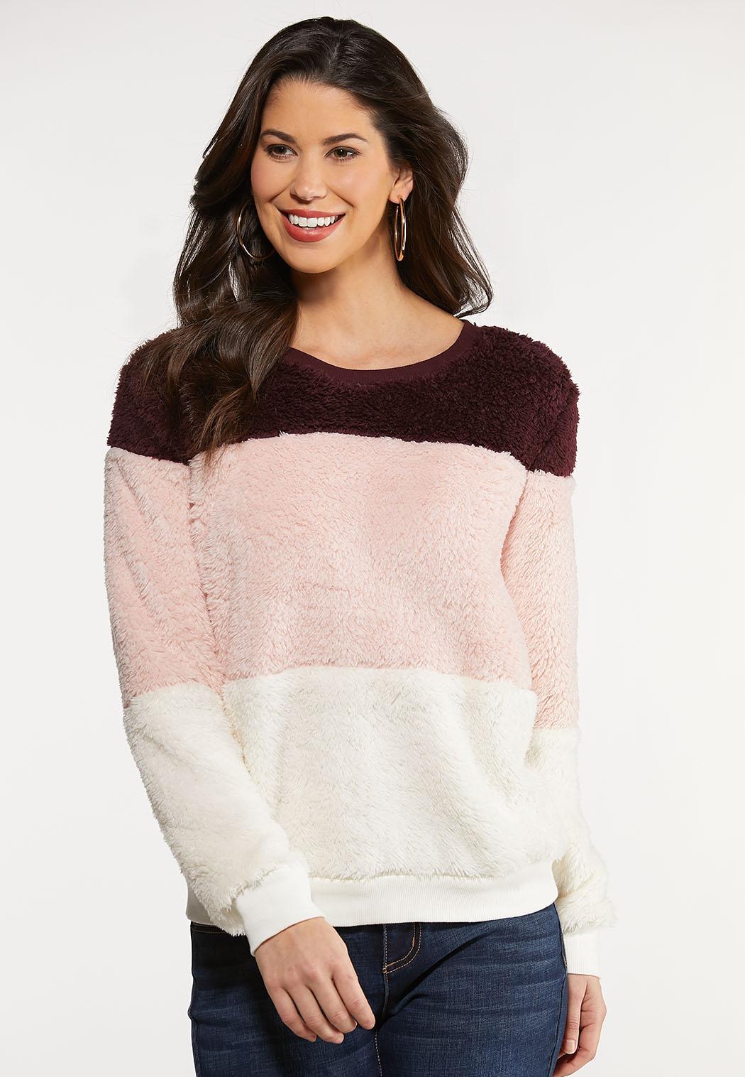Colorblock Fleece Top