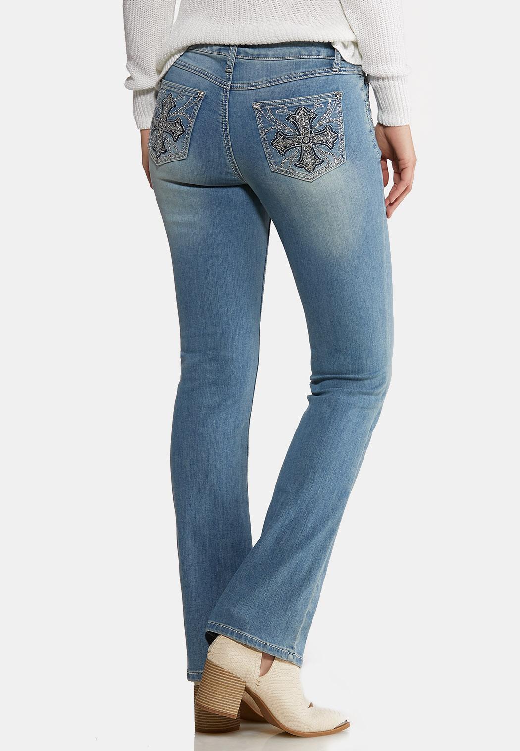 Petite Cross Pocket Jeans