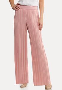 Petite Pink Pleated Pants