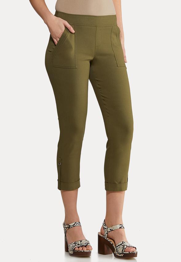 Olive Utility Bengaline Pants