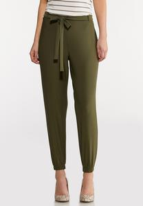 Olive Dressy Joggers