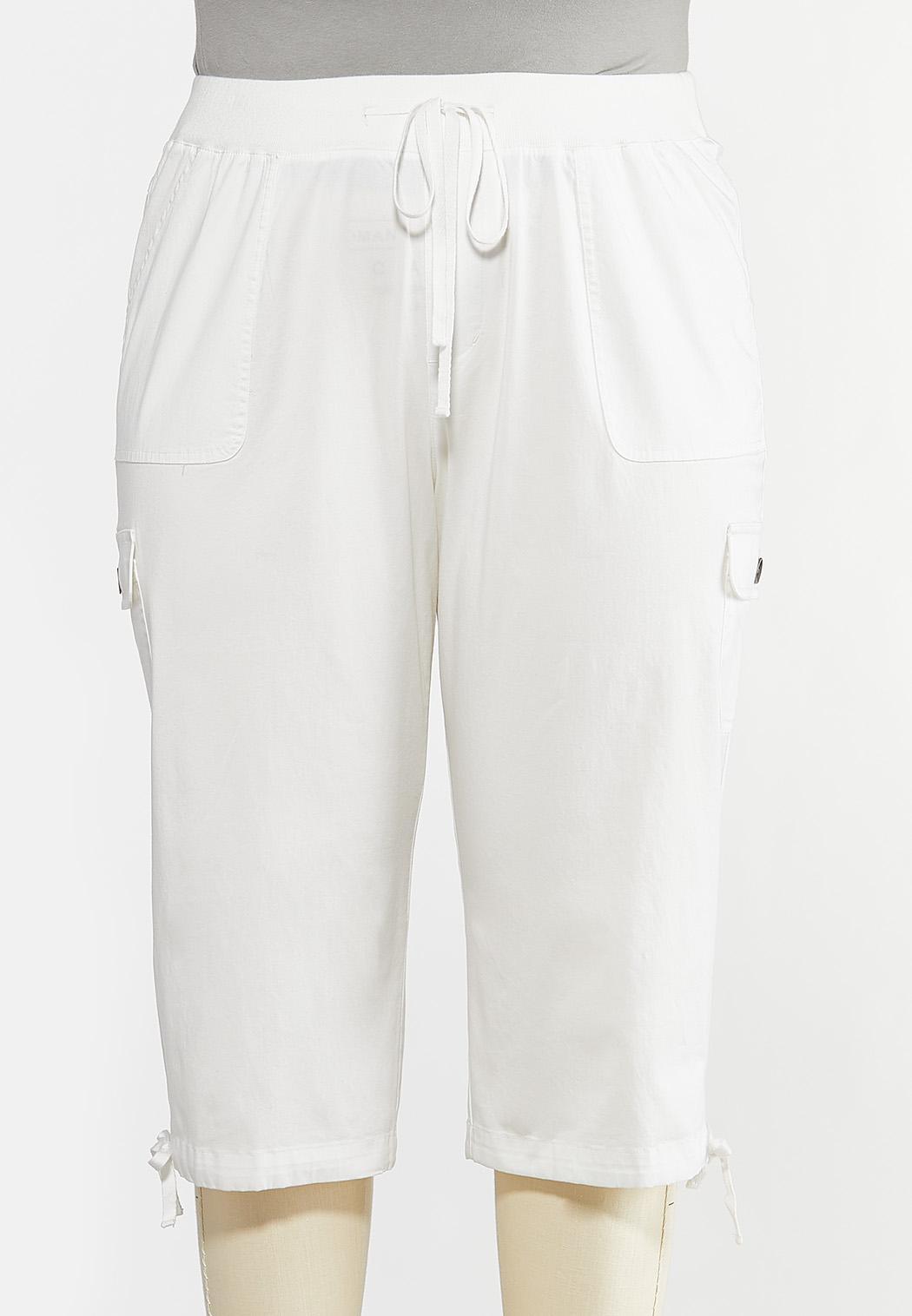 Plus Size Cropped Utility Pants
