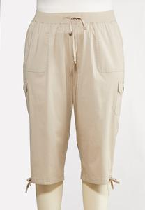 Plus Size Cropped Utility Pants