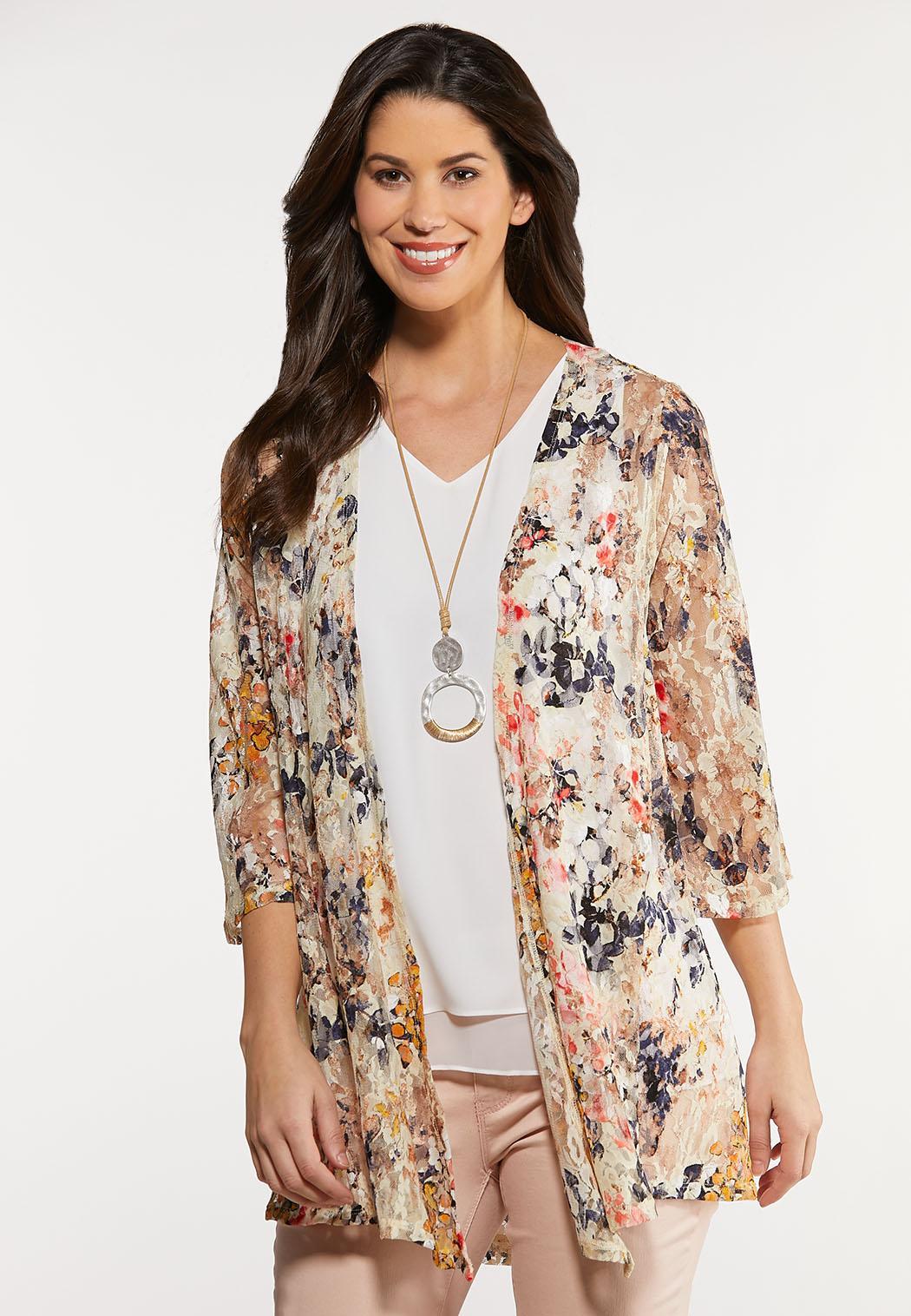 Enchanting Floral Lace Kimono