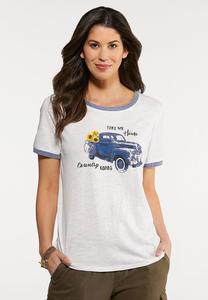 Plus Size Country Road Tee