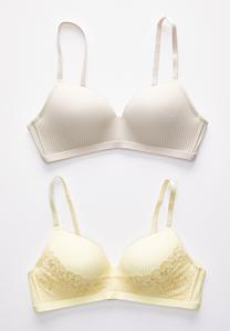 Hello Yellow Wire-Free Bra Set