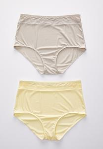 Plus Size Hello Yellow High Waist Panty Set