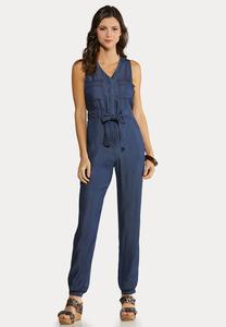 Chambray Jogger Jumpsuit