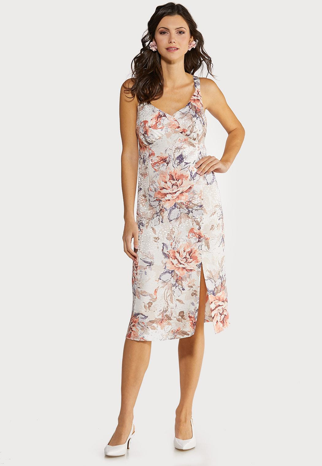 Plus Size Blush Floral Slip Dress