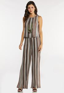 Pleated Two Piece Pant Set