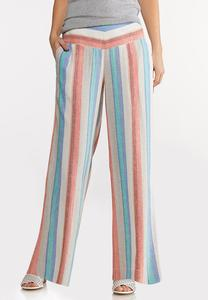 Citrus Stripe Linen Pants