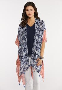Wavy Tie Dye Kimono