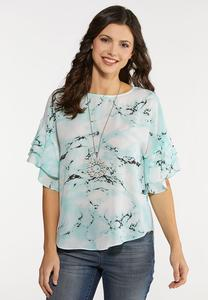 Plus Size Marbled Dye Top