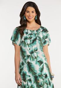 Tropical Palm Poet Top