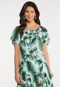 Tropical Palm Poet Top