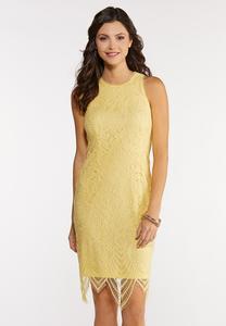 Scalloped Lace Midi Dress