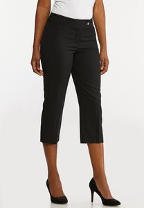Cropped Stretch Trouser Pants