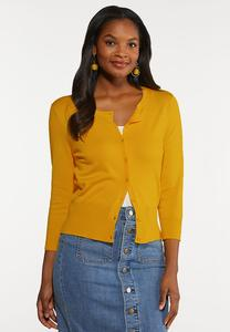 Plus Size Essential Cropped Cardigan