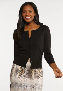 Plus Size Essential Cropped Cardigan