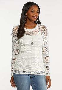 Open Stitch Pullover Sweater