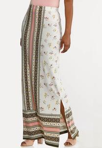 Plus Size Bohemian Maxi Skirt