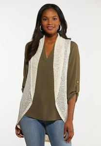 Plus Size Ivory Sweater Vest
