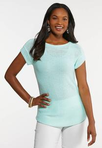 Plus Size Mint Pullover Sweater