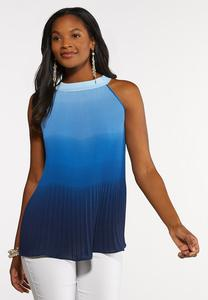 Ombre Pleated Tank