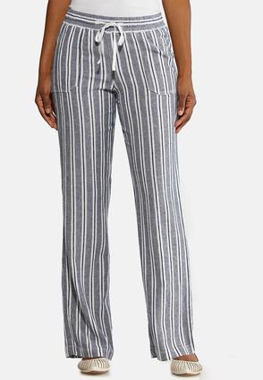 Stripe Linen Beach Pants