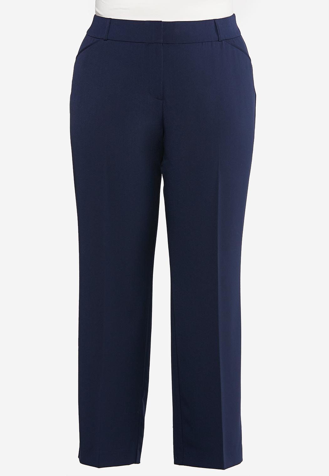 Plus Petite Solid Trouser Pants