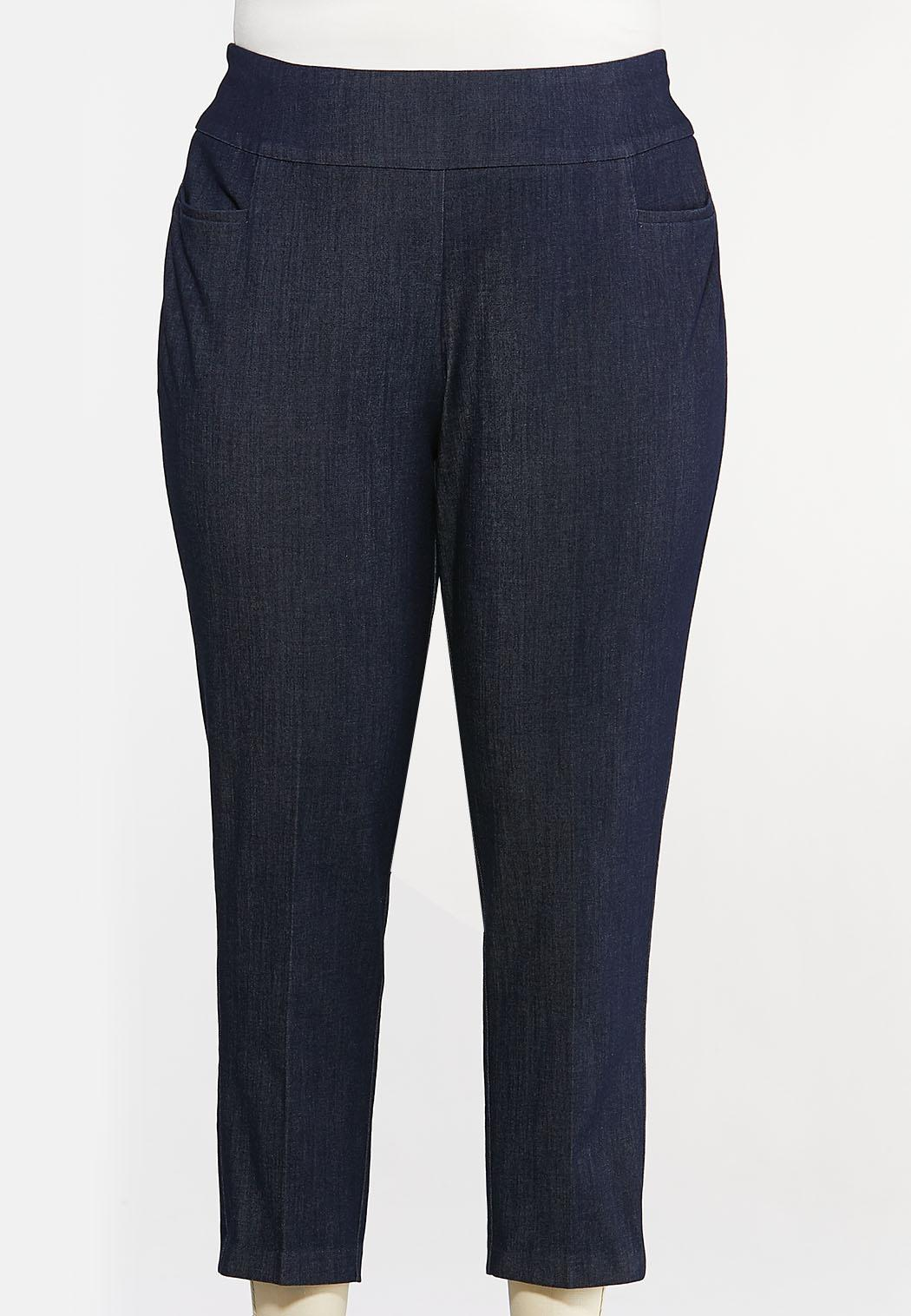Plus Size Dressy Denim Pants