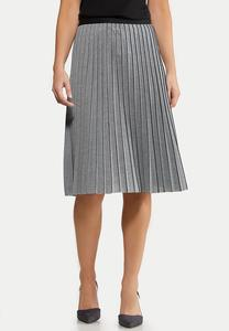Plus Size Heather Pleated Skirt