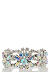 Iridescent Floral Stretch Bracelet