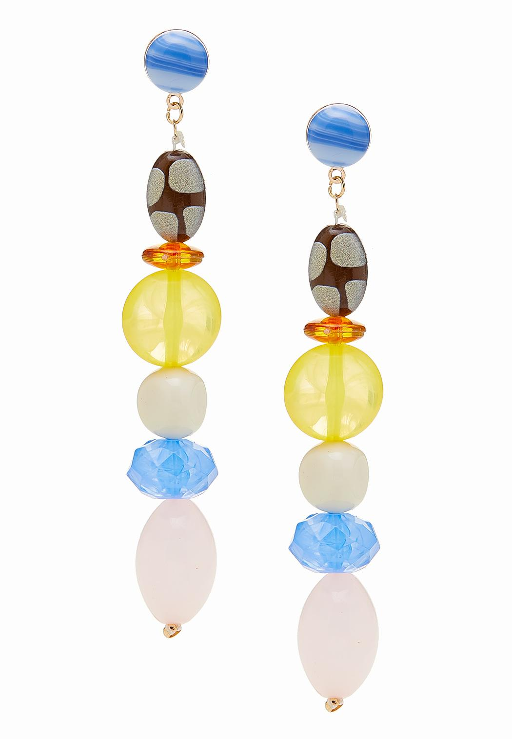 Beaded Linear Dangle Earrings