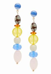 Beaded Linear Dangle Earrings