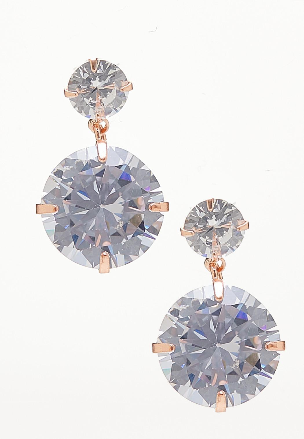 Cubic Zirconia Stone Earrings