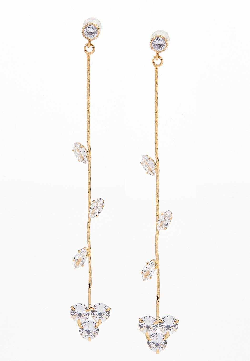 Linear Sparkle Vine Earrings