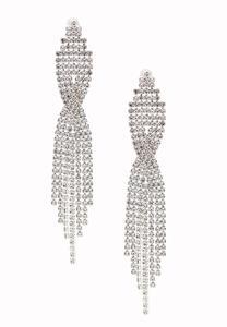Statement Waterfall Rhinestone Earrings