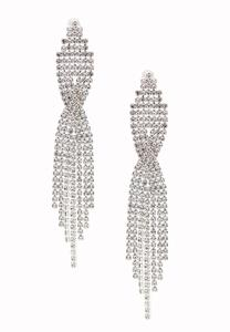 Statement Waterfall Rhinestone Earrings