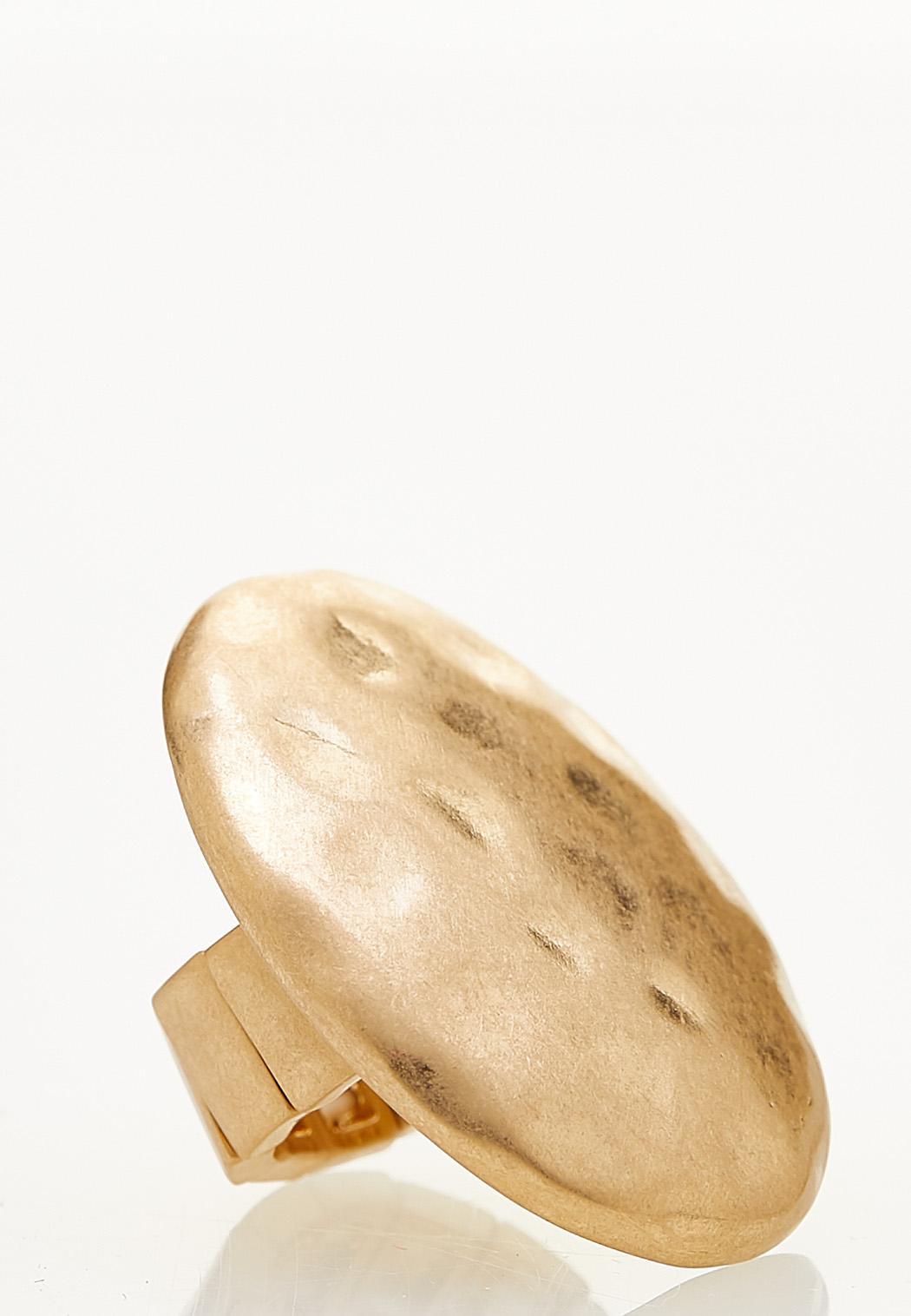 Worn Gold Stretch Ring