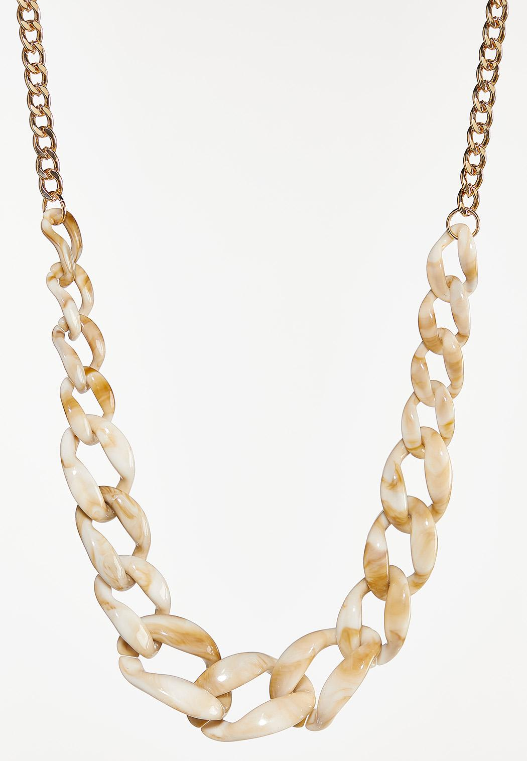 Neutral Resin Link Necklace