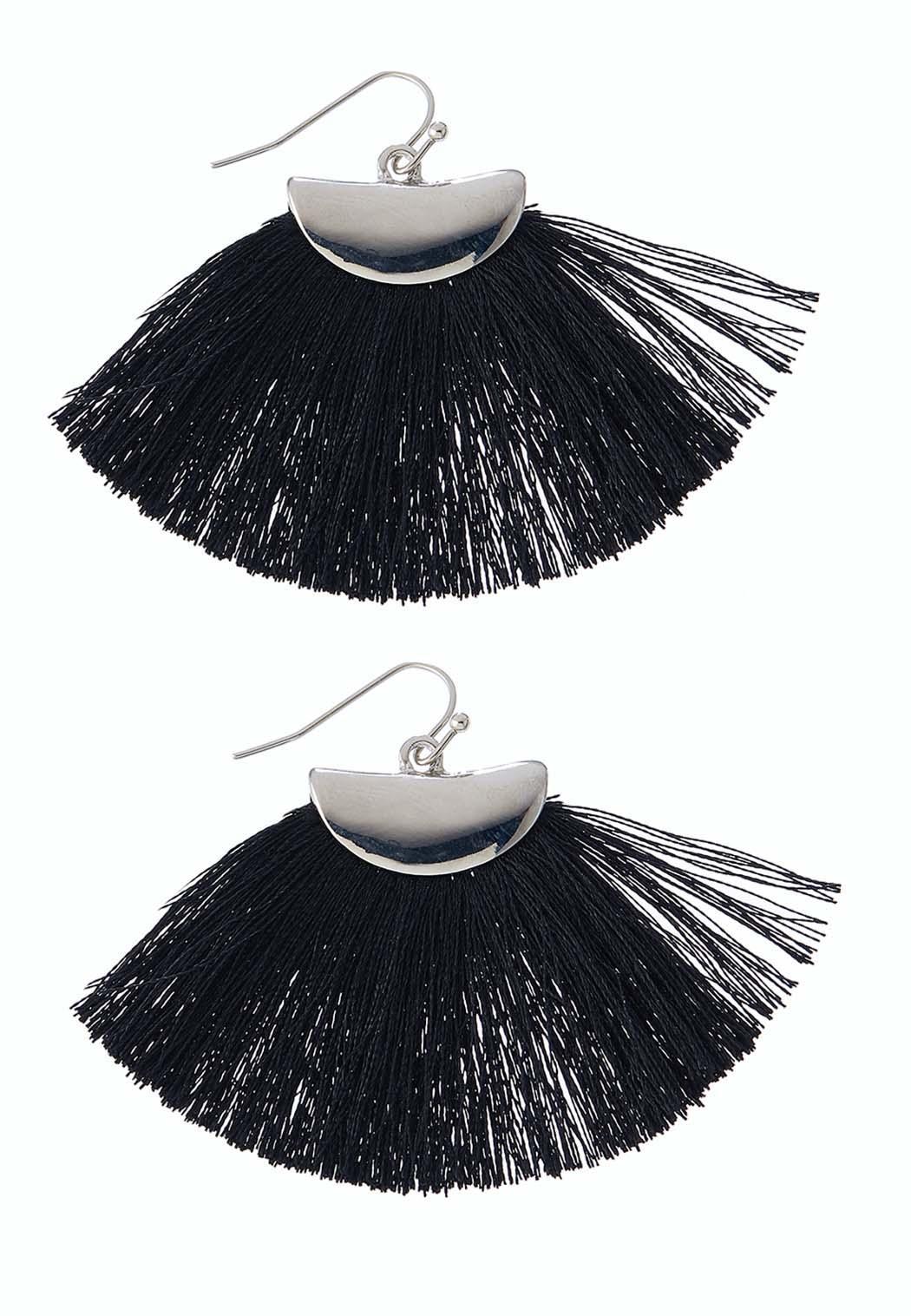Crescent Fringe Earrings