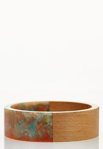 Watercolor Wood Bangle Bracelet