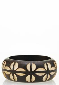 Two-Toned Wood Bangle Bracelet