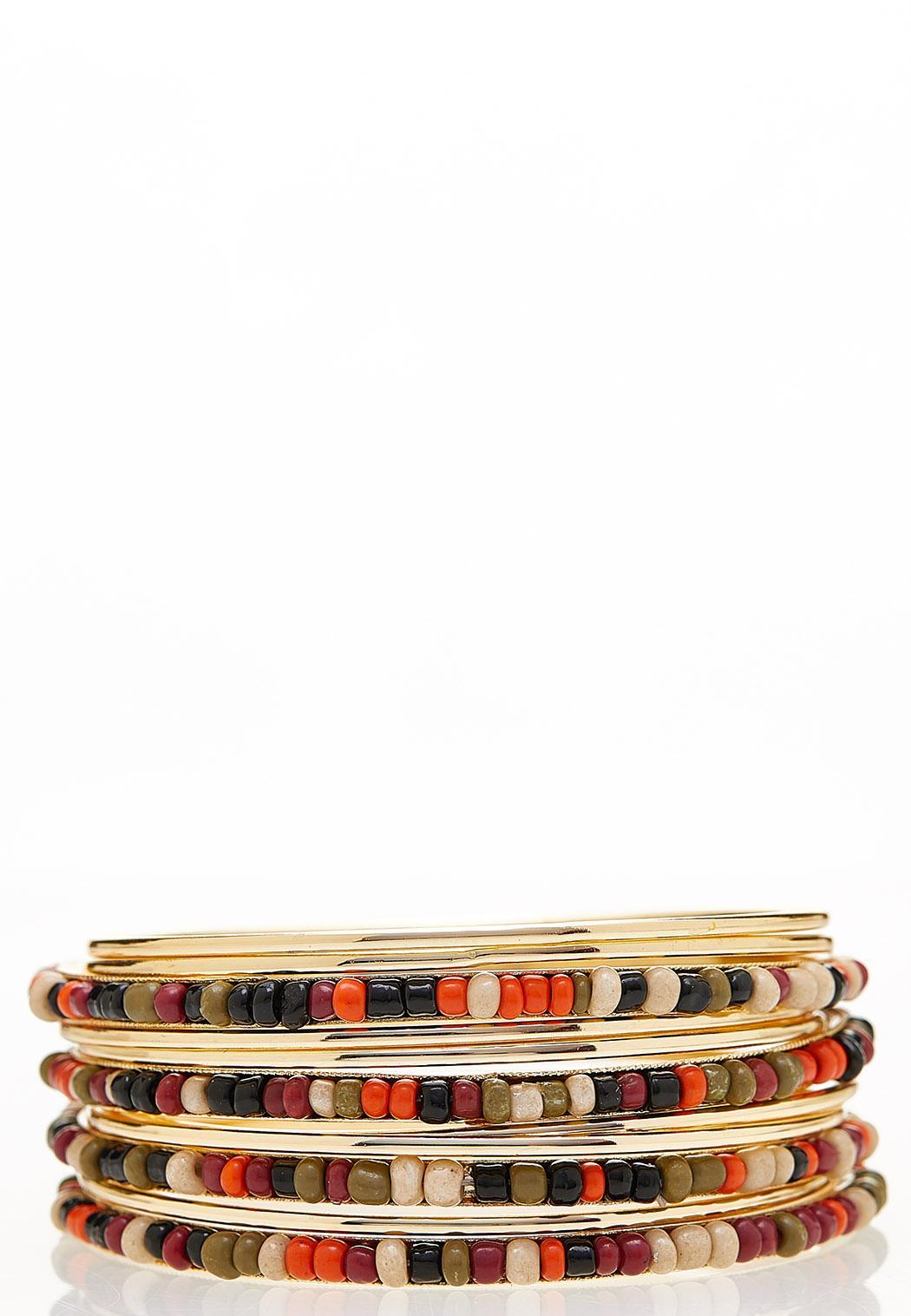 XL Multi Seed Bead Bracelet Set