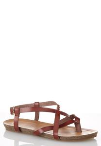 Crossover Braid Strap Sandals