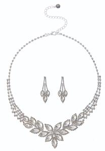 Marquis Rhinestone Necklace Set