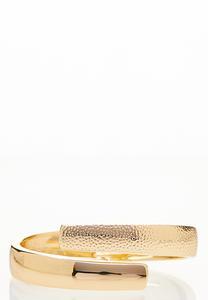 Textured Metal Cuff Bracelet